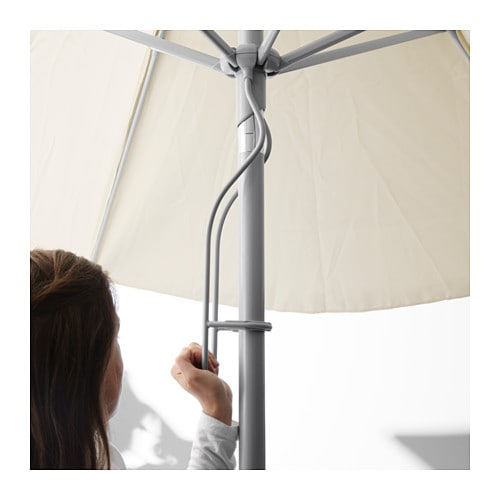 karls parasol with base beige gryt dark grey ikea. Black Bedroom Furniture Sets. Home Design Ideas