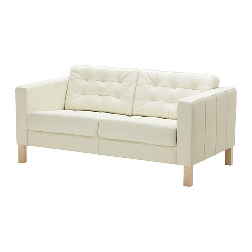 KARLSFORS Two-seat sofa IKEA Seat surfaces in soft, hardwearing and easy care grain leather which ages gracefully.