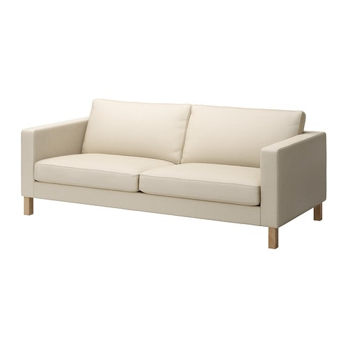 KARLSTAD Three-seat sofa IKEA A range of coordinated covers makes it easy for you to give your furniture a new look.