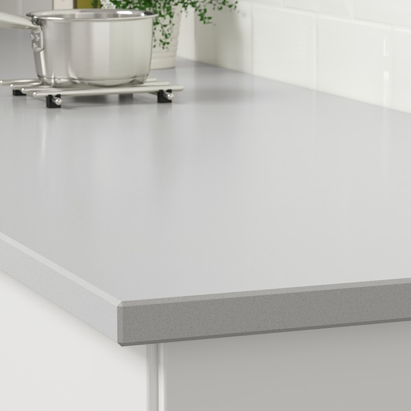 KASKER Custom made worktop, matt concrete effect/quartz, 1 m²x3.0 cm