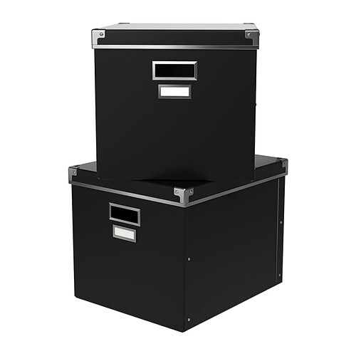 Black Storage Boxes Samsill Pns06lsbk Pop N Store