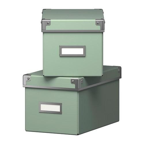 2 x ikea kassett billy bookcase cd storage box light. Black Bedroom Furniture Sets. Home Design Ideas