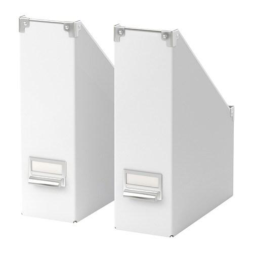 2 x ikea kassett magazine file rack storage box white ebay for Ikea paper holder storage