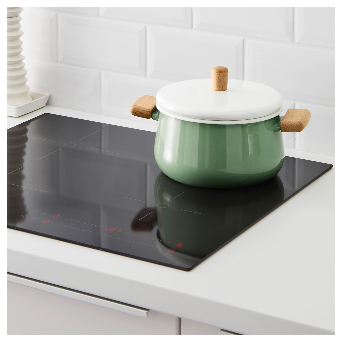 IKEA KASTRULL pot with lid Works well on all types of hobs, including induction hob.