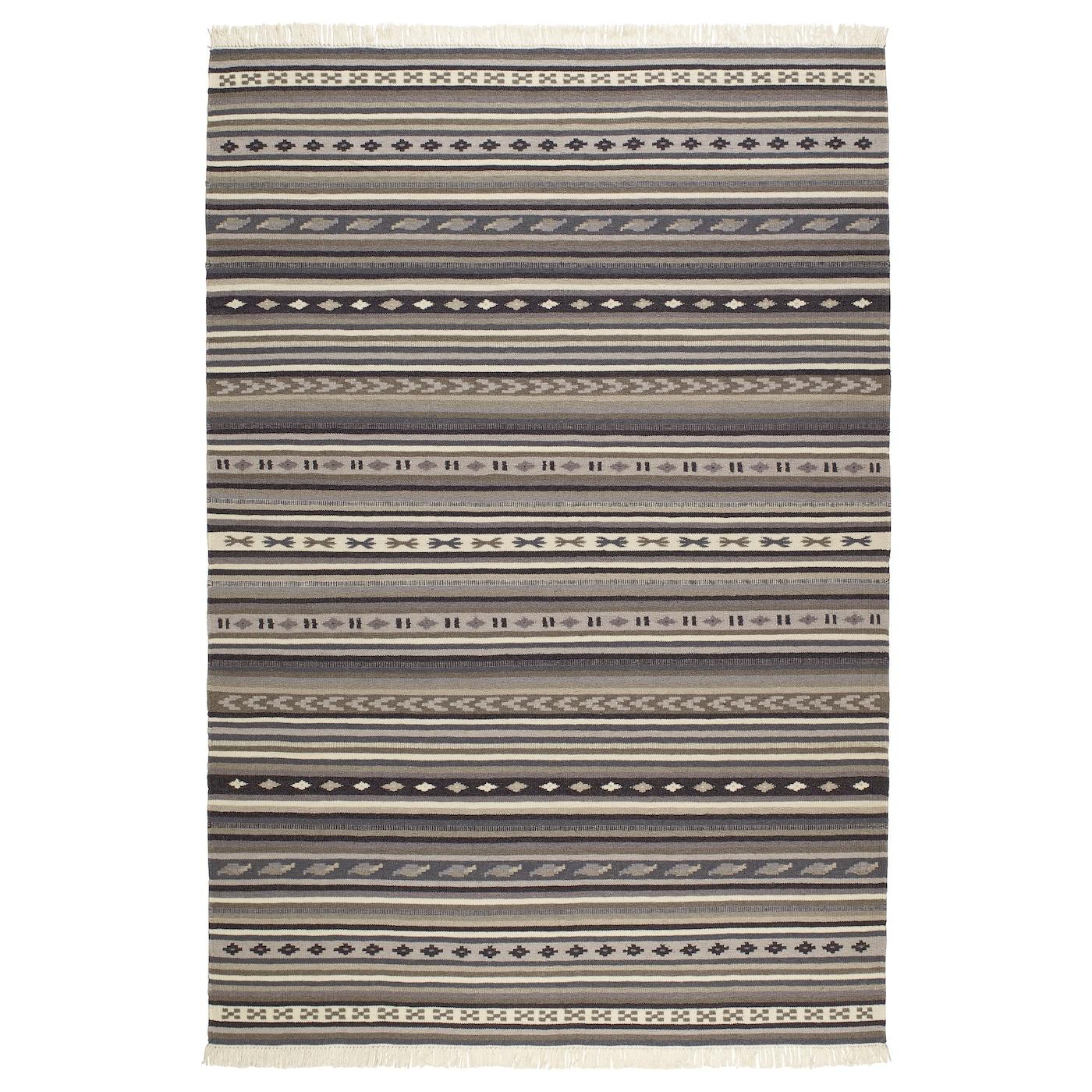 kattrup rug flatwoven handmade grey ikea. Black Bedroom Furniture Sets. Home Design Ideas