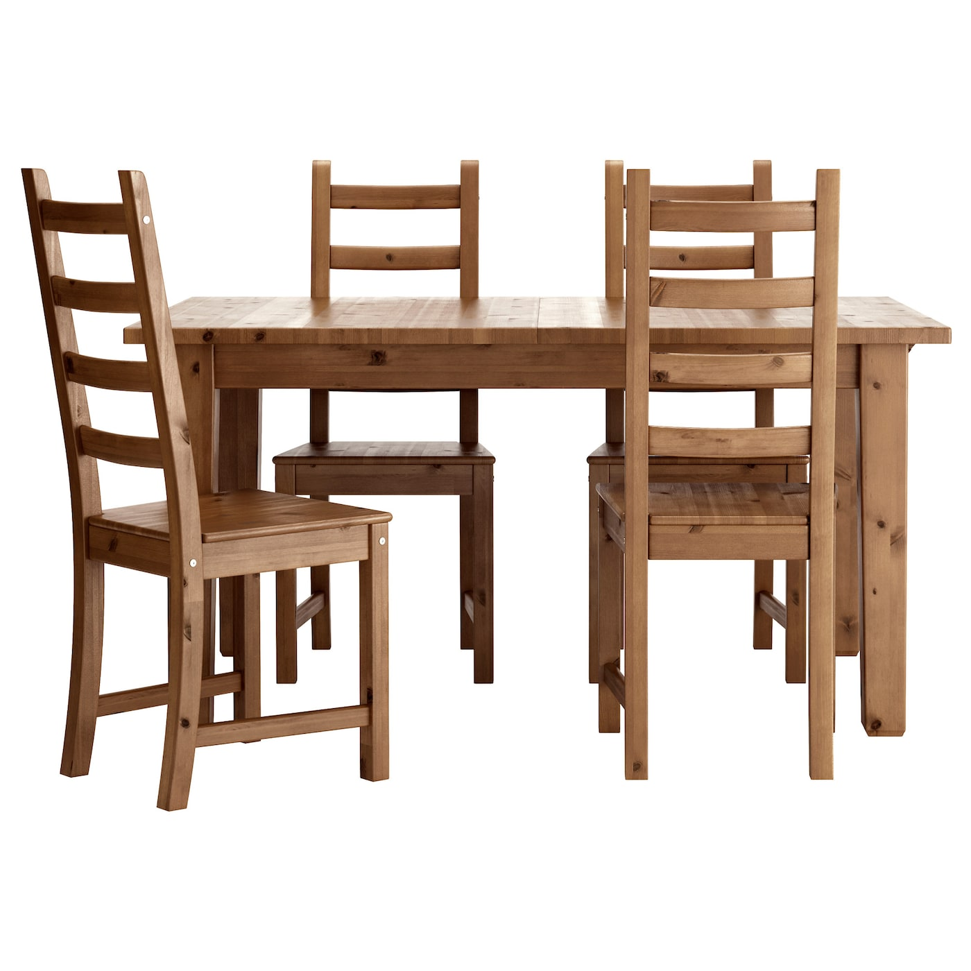 Kaustby storn s table and 4 chairs antique stain 147 cm ikea for Ikea dining table and chairs set