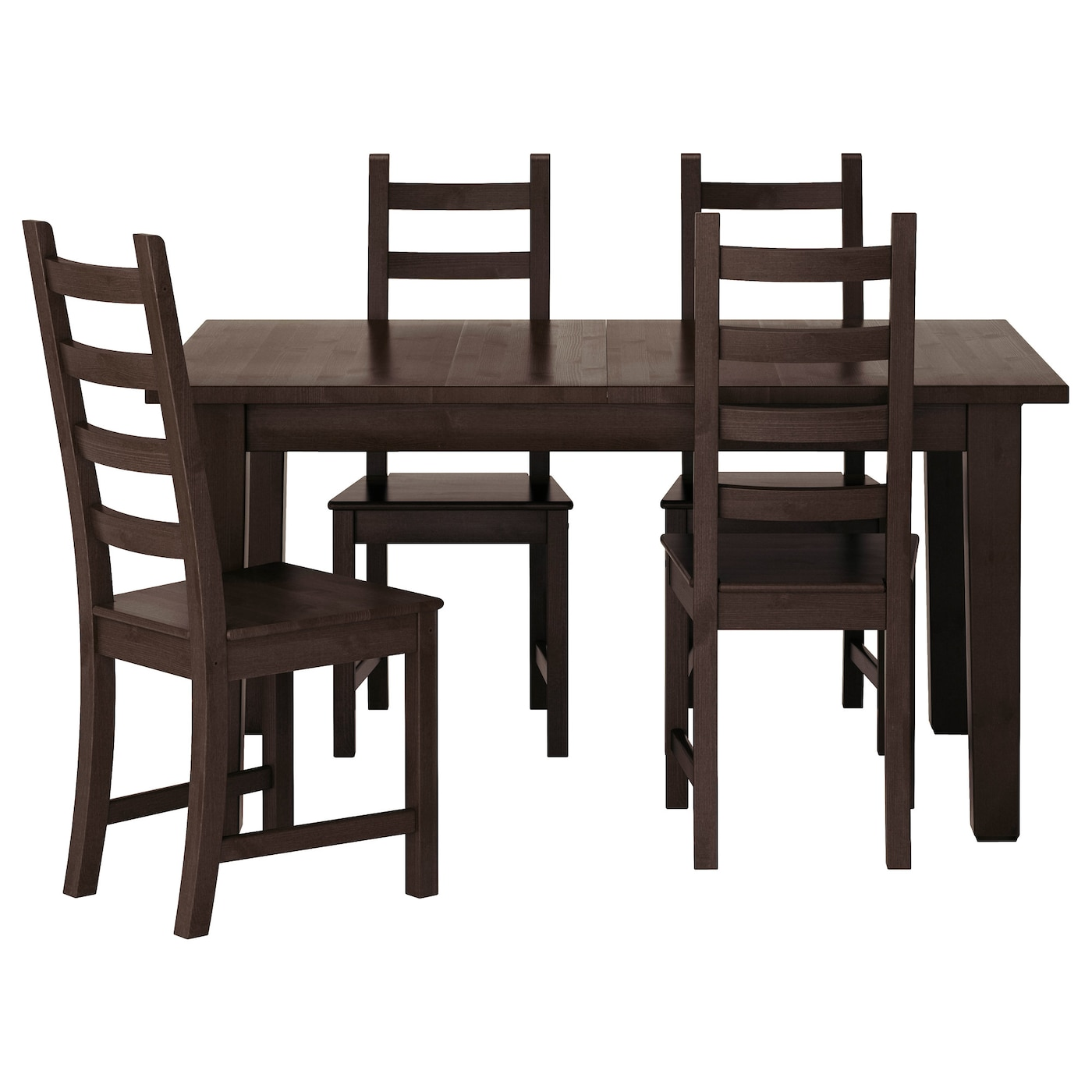 "KAUSTBY STORN""S Table and 4 chairs Brown black 147 cm IKEA"