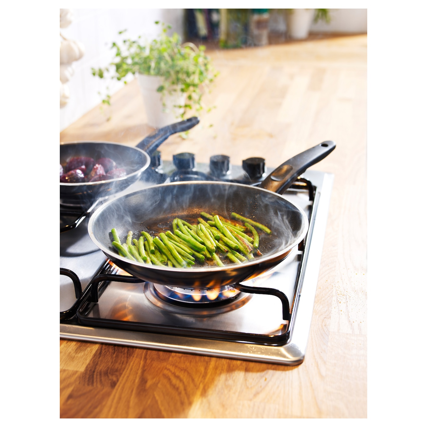 IKEA KAVALKAD frying pan, set of 2