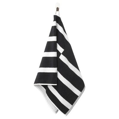 KINNEN Hand towel, black/white, 50x100 cm