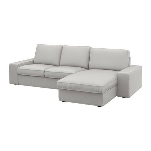 KIVIK 3-seat Sofa With Chaise Longue/ramna Light Grey