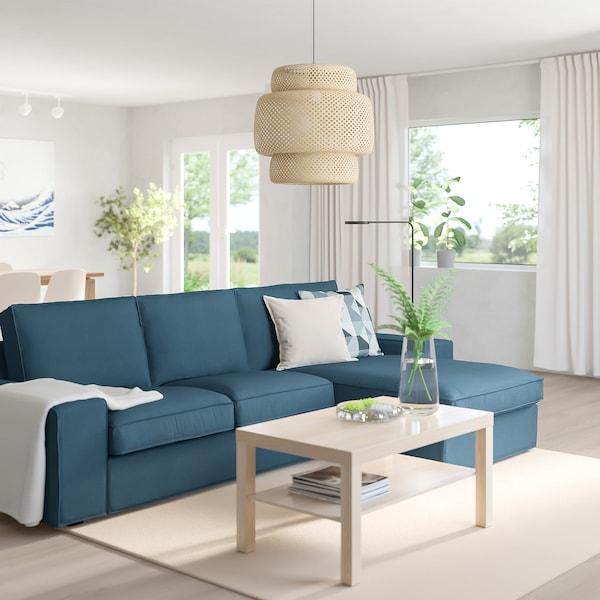 KIVIK with chaise longueHillared dark blue, 3 seat sofa IKEA