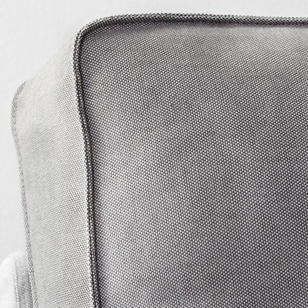 KIVIK 4-seat sofa with chaise longue/Ramna light grey 318 cm 83 cm 95 cm 163 cm 60 cm 124 cm 45 cm