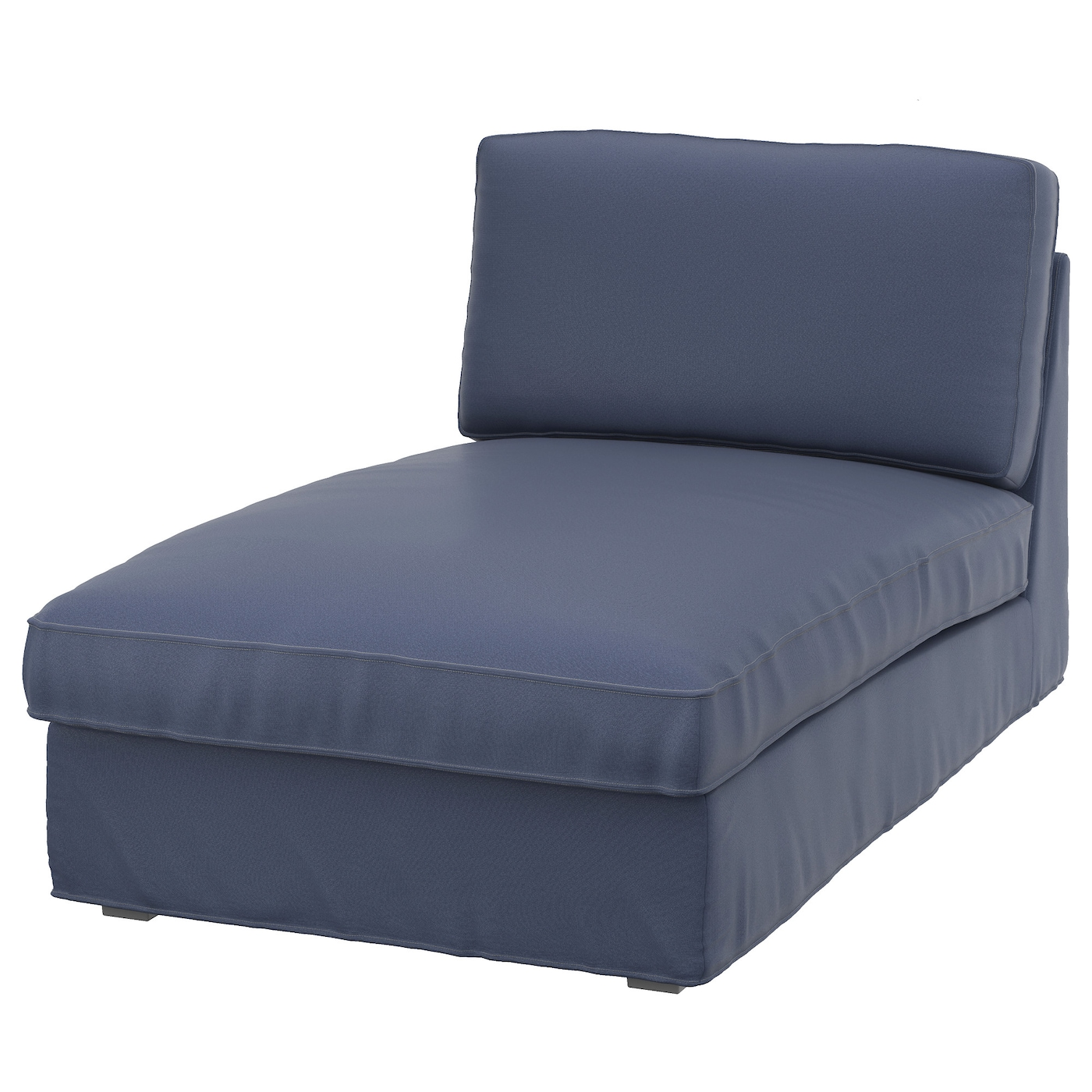 Kivik chaise longue ramna dark blue ikea for Blue chaise longue
