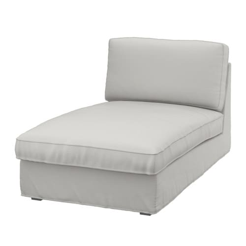 KIVIK Chaise longue Ramna light grey - IKEA