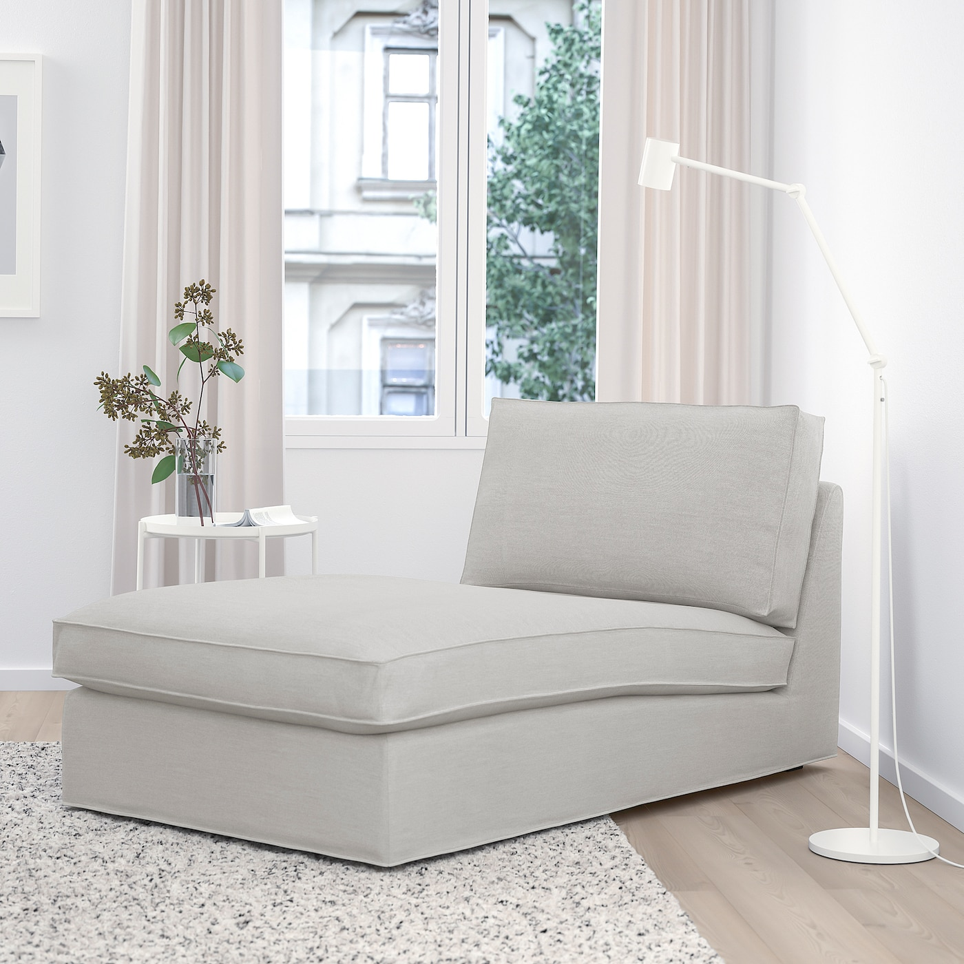 Kivik Ramna Light Grey Chaise Longue Ikea