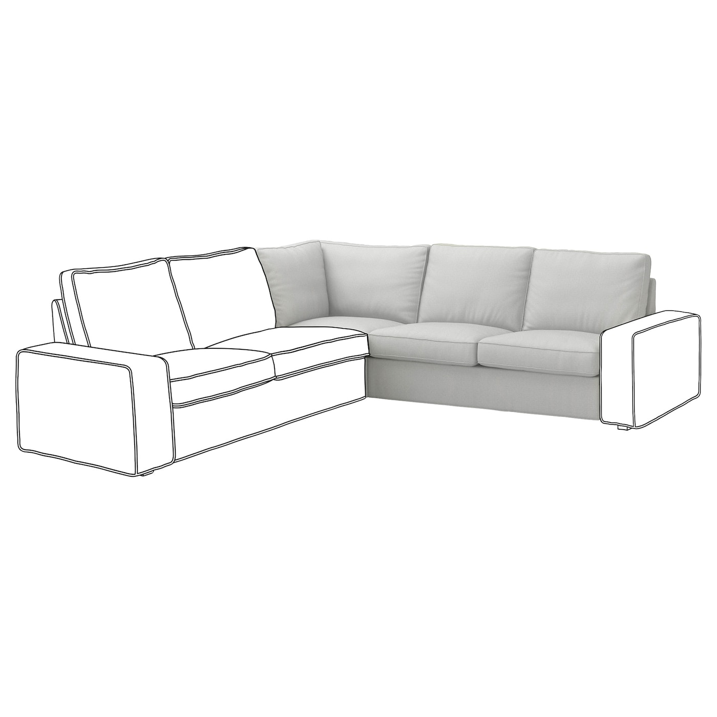 Ikea kivik corner sofa ikea kivik corner sofa with chaise - Kivik corner section ...
