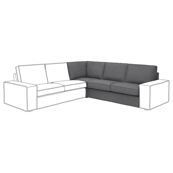 KIVIK corner section Skiftebo dark grey 234 cm 94 cm 83 cm 58 cm 46 cm