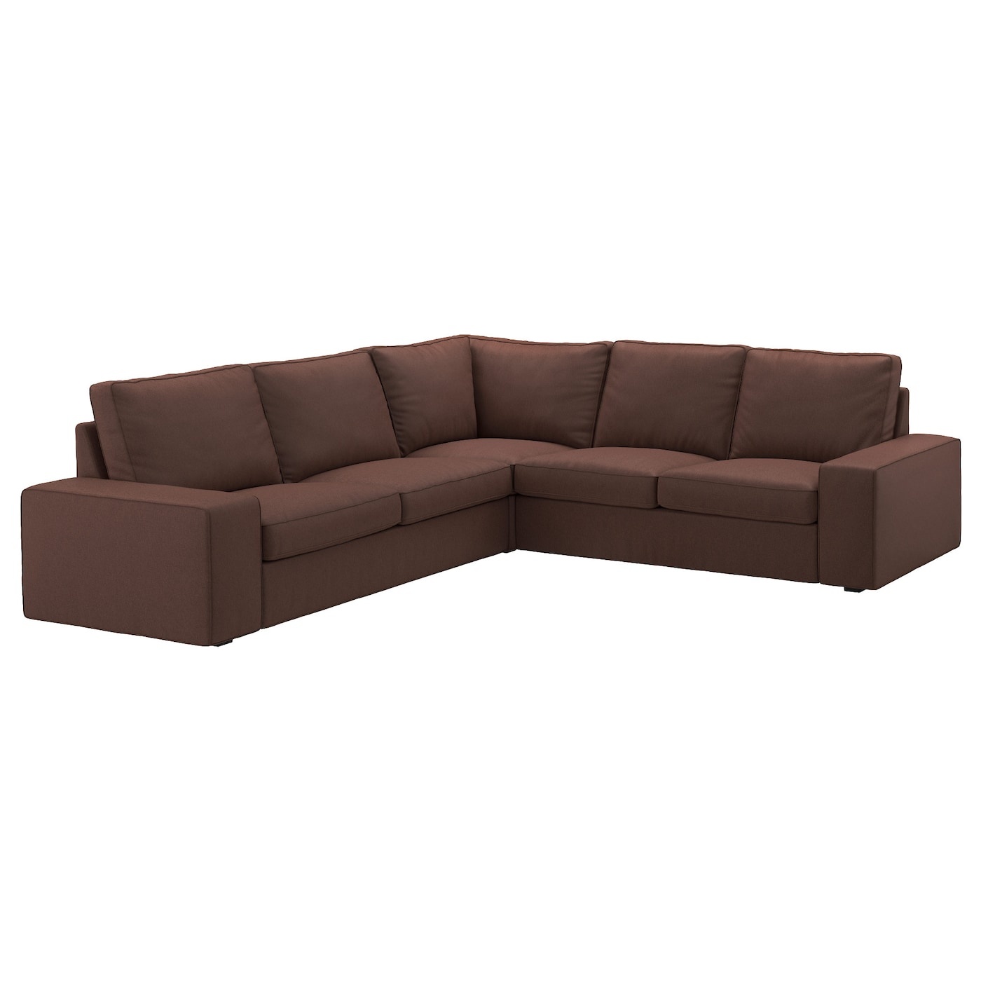 Kivik corner sofa 2 2 borred dark brown ikea for Ikea corner sofa