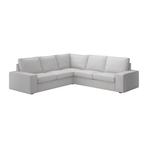 Kivik Corner Sofa 2 2 Ramna Light Grey Ikea