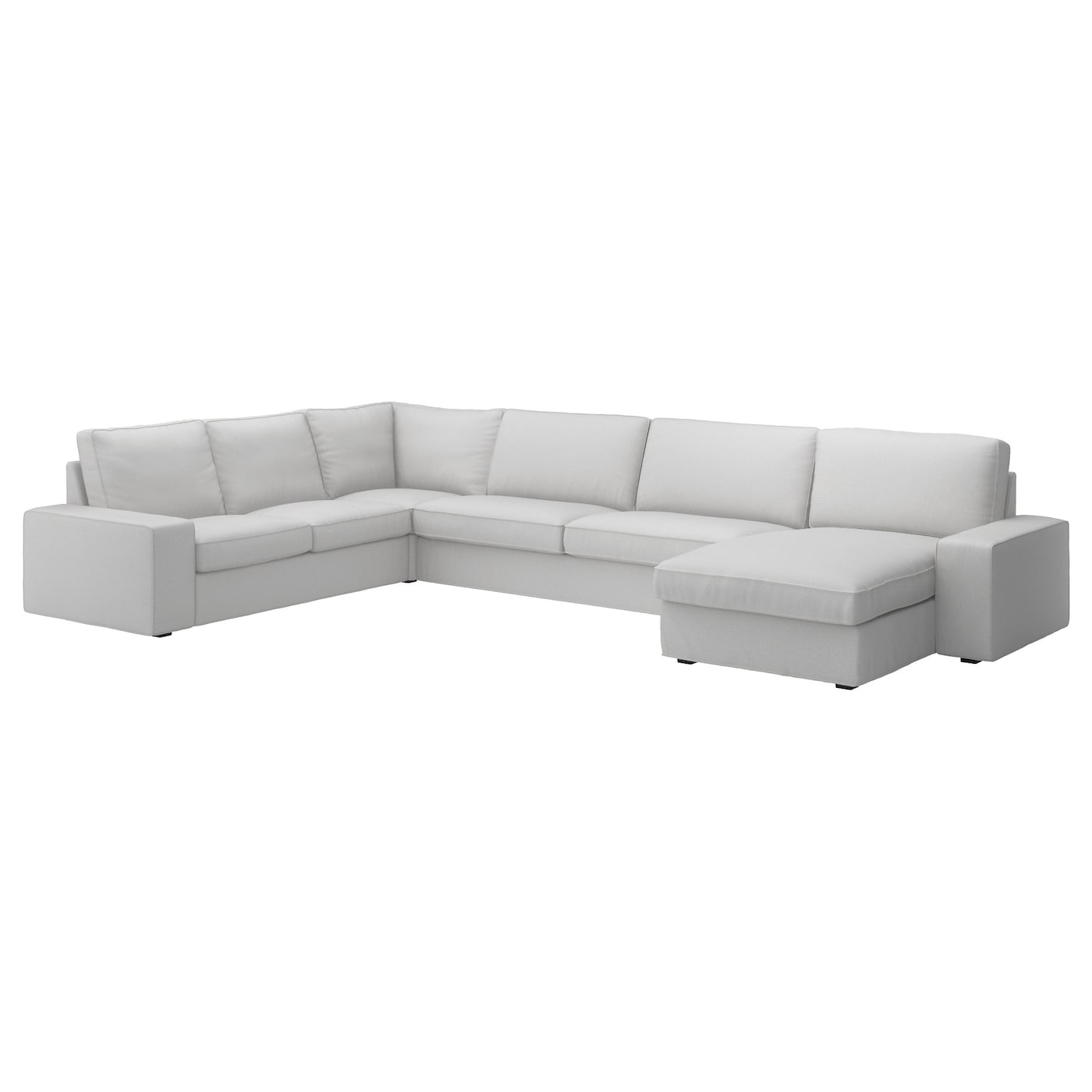 KIVIK Corner sofa 23  32 and chaise longue Ramna light grey   IKEA