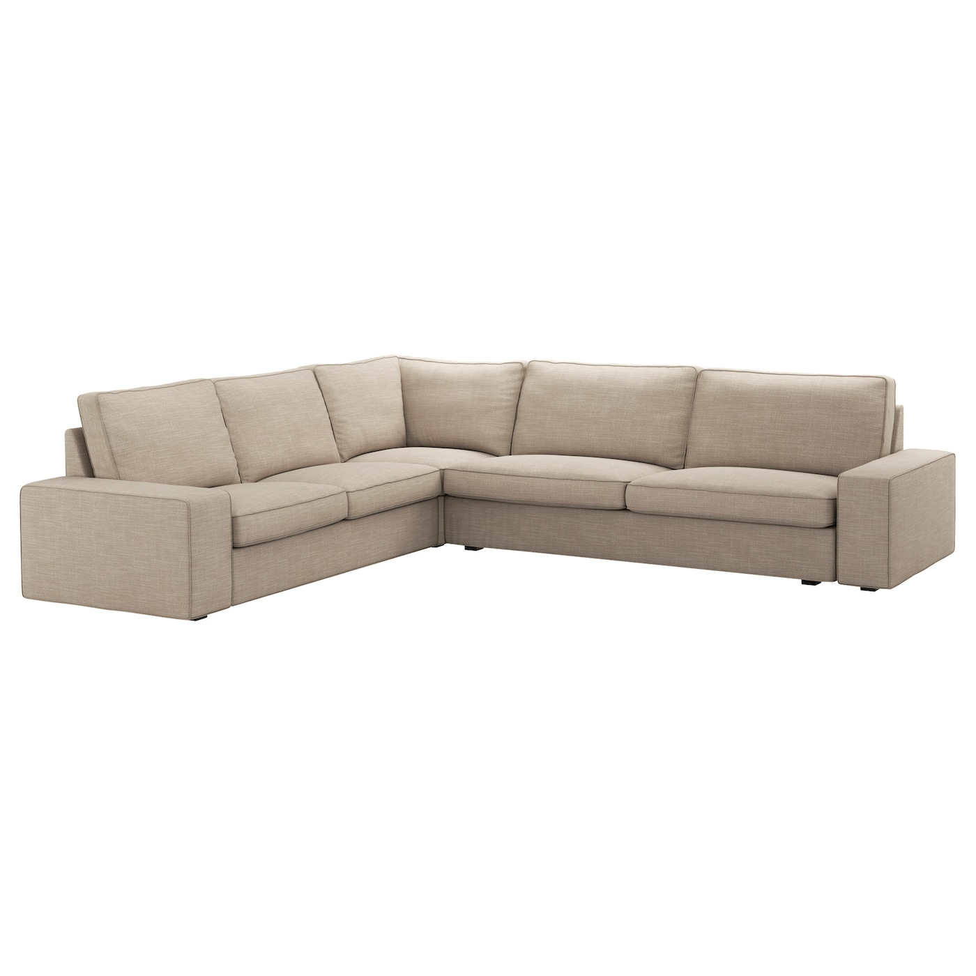 Kivik corner sofa 2 3 3 2 hillared beige ikea for Kivik chaise ikea