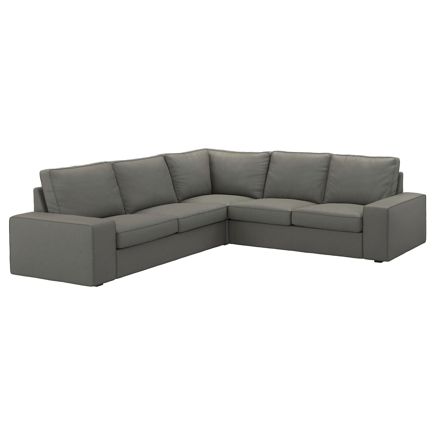 kivik corner sofa 4 seat borred grey green ikea. Black Bedroom Furniture Sets. Home Design Ideas