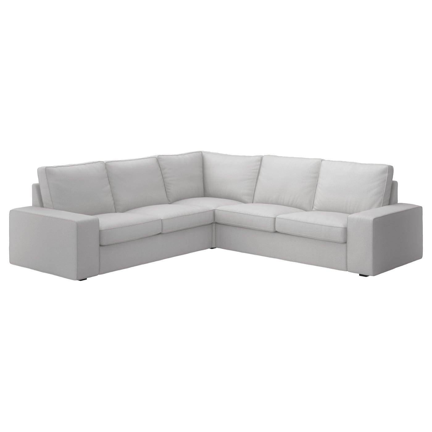 Kivik corner sofa 4 seat ramna light grey ikea - Divani ikea kivik opinioni ...