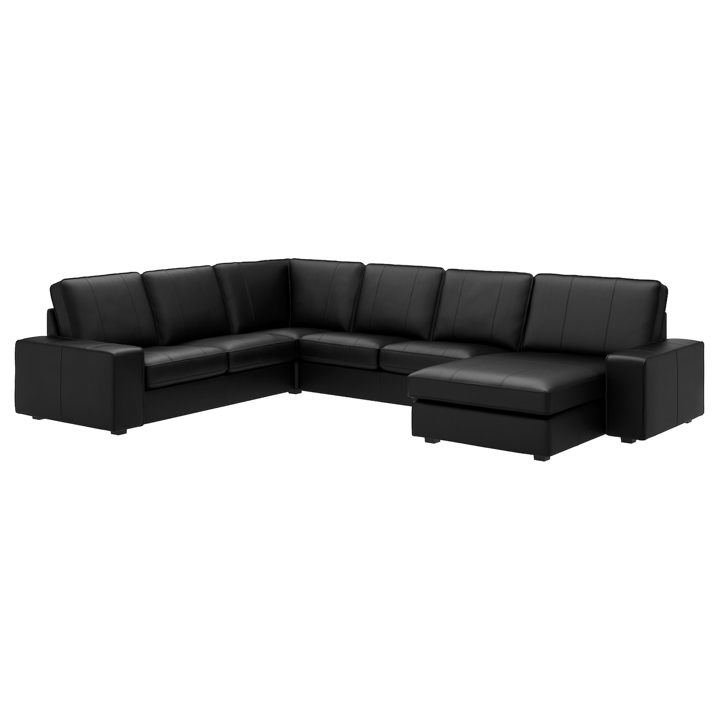 Kivik Corner Sofa 5 Seat With Chaise Longue Grann Bomstad Black Ikea