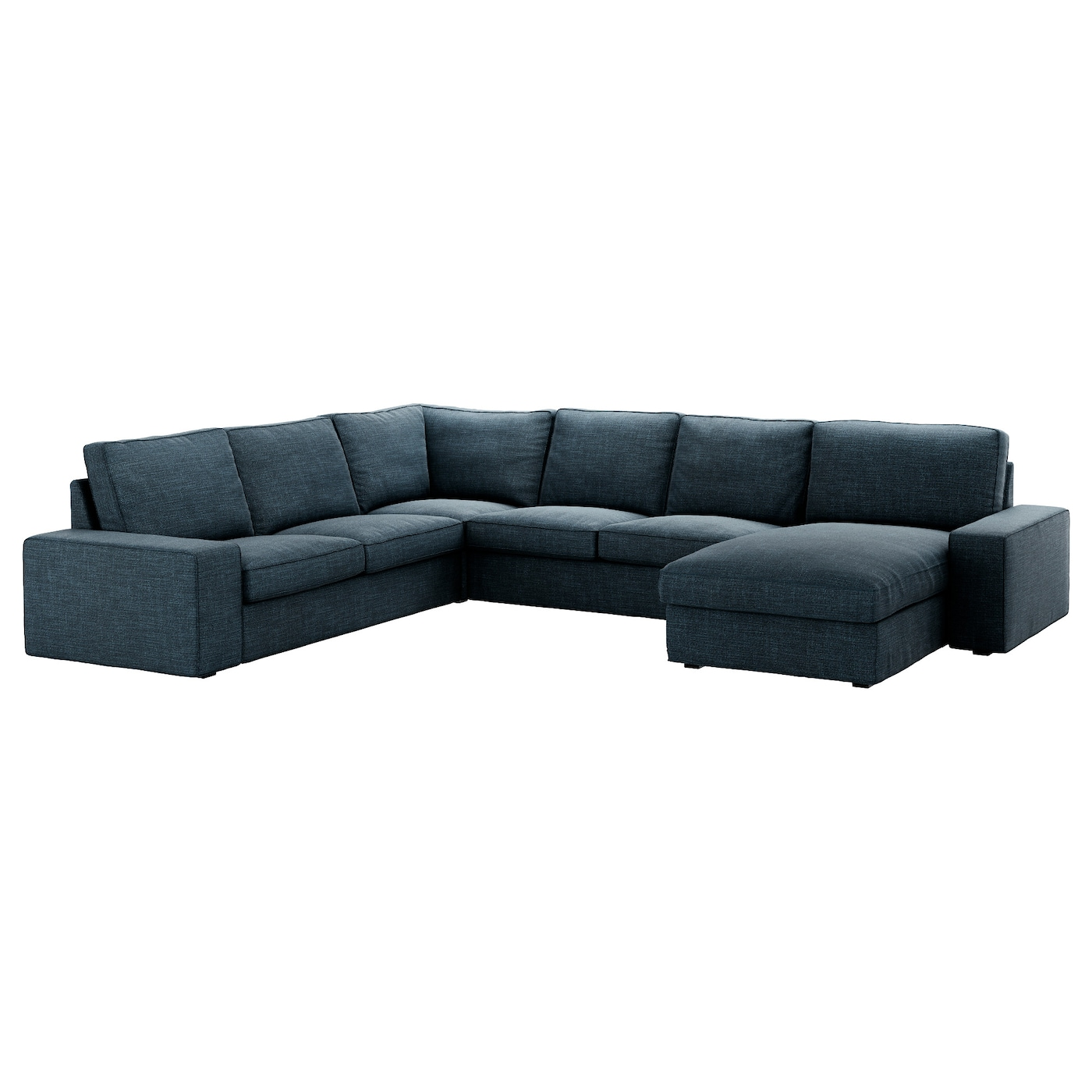 Kivik corner sofa 5 seat with chaise longue hillared dark for Blue chaise longue