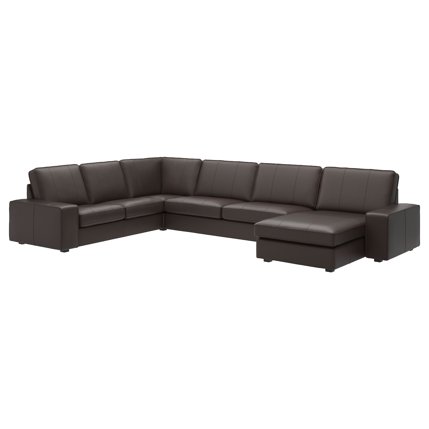 Kivik corner sofa 6 seat with chaise longue grann bomstad for Brown sectional sofa with chaise