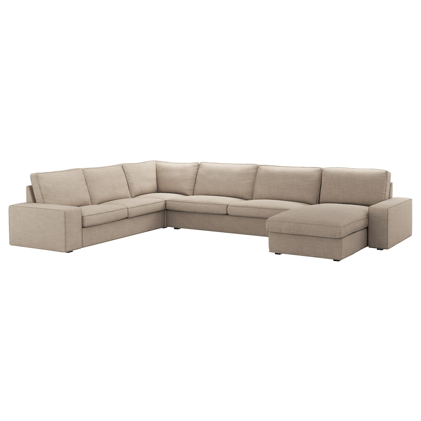 Kivik Corner Sofa 6 Seat With Chaise Longue Hillared Beige Ikea