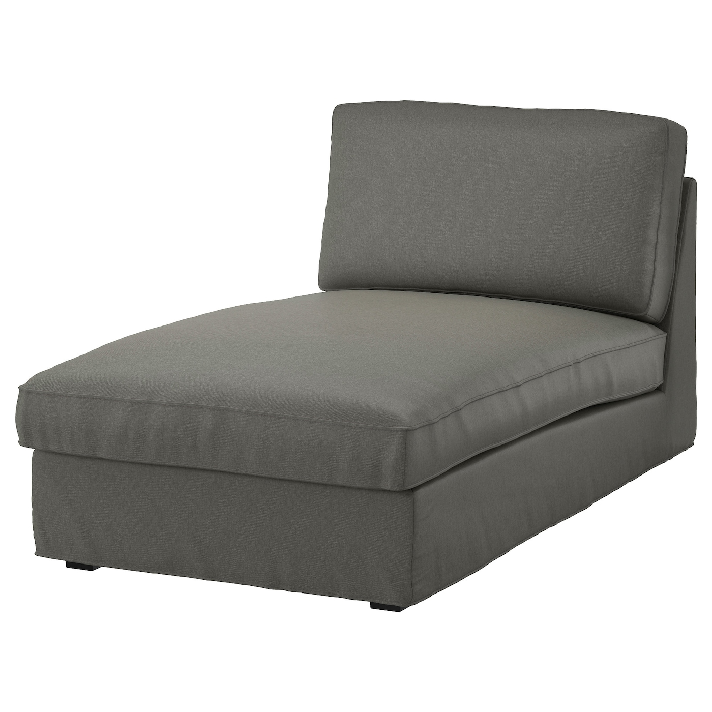 Kivik cover for chaise longue borred grey green ikea for Chaise longue jardin ikea