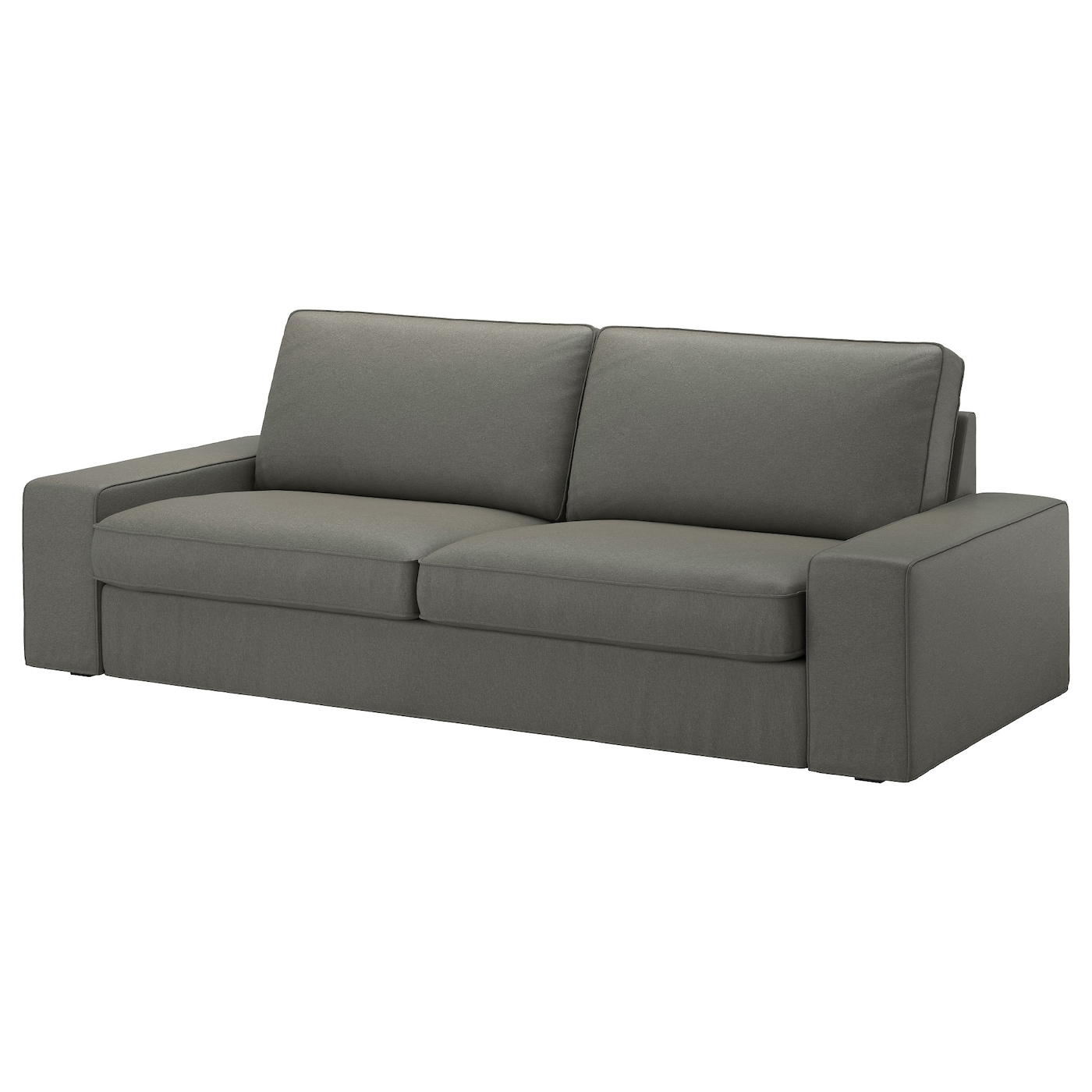 kivik cover three seat sofa borred grey green ikea. Black Bedroom Furniture Sets. Home Design Ideas