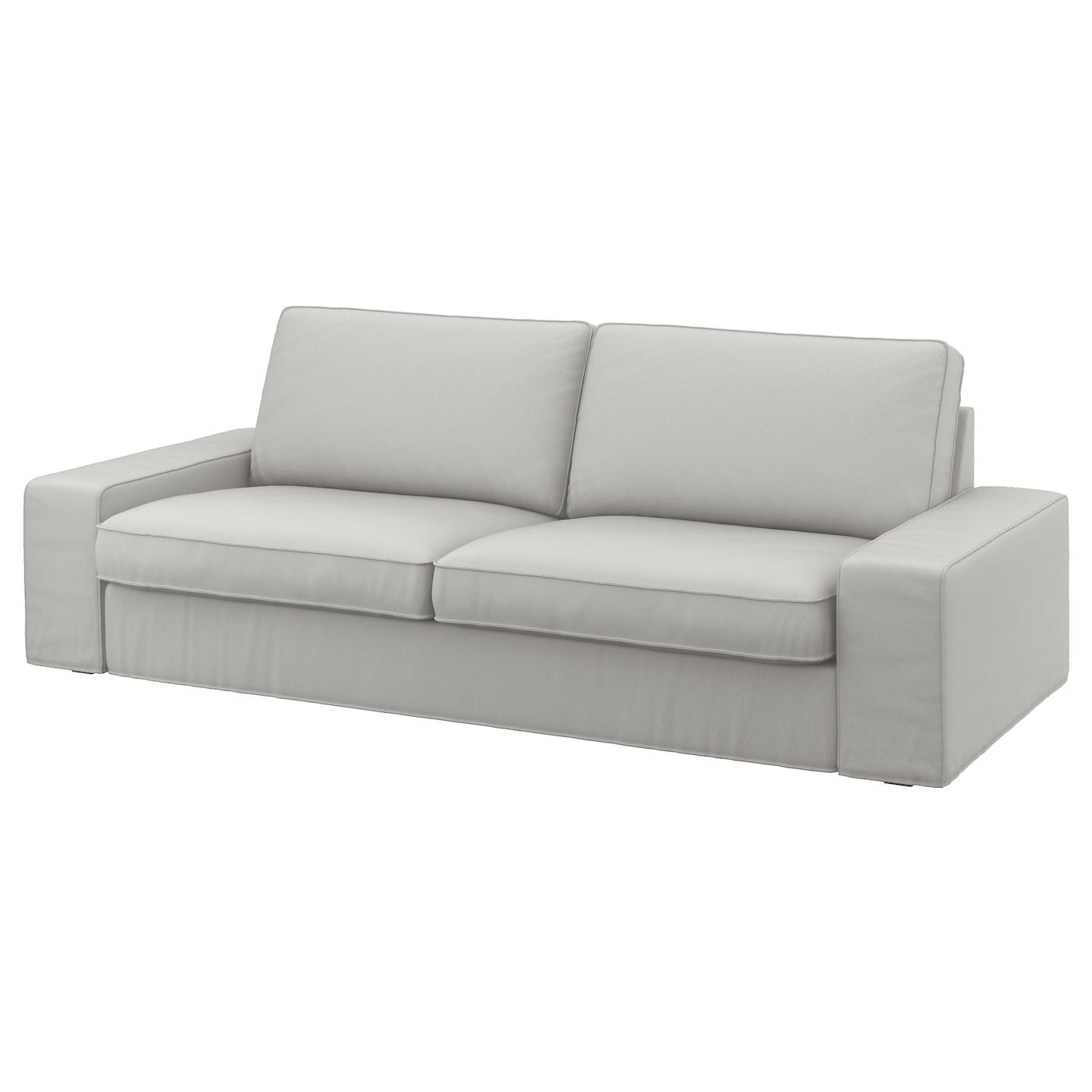Kivik Ramna Light Grey Cover Three Seat Sofa Ikea