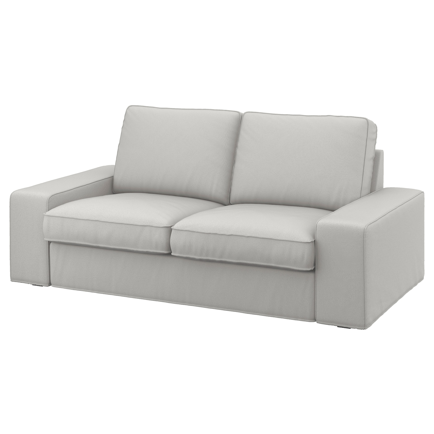 Kivik Cover Two Seat Sofa Ramna Light Grey Ikea