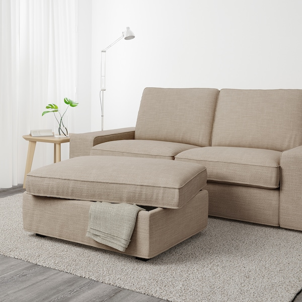 KIVIK Footstool with storage, Hillared beige