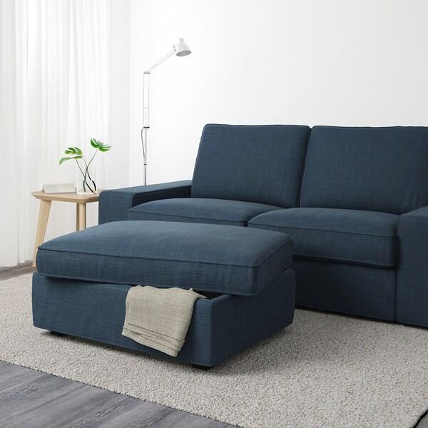 KIVIK Footstool with storage, Hillared dark blue
