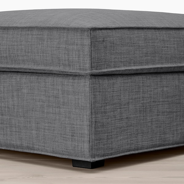 KIVIK Footstool with storage, Skiftebo dark grey