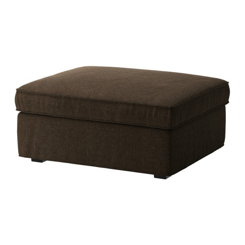 KIVIK Footstool with storage IKEA Big, practical storage space under the seat.