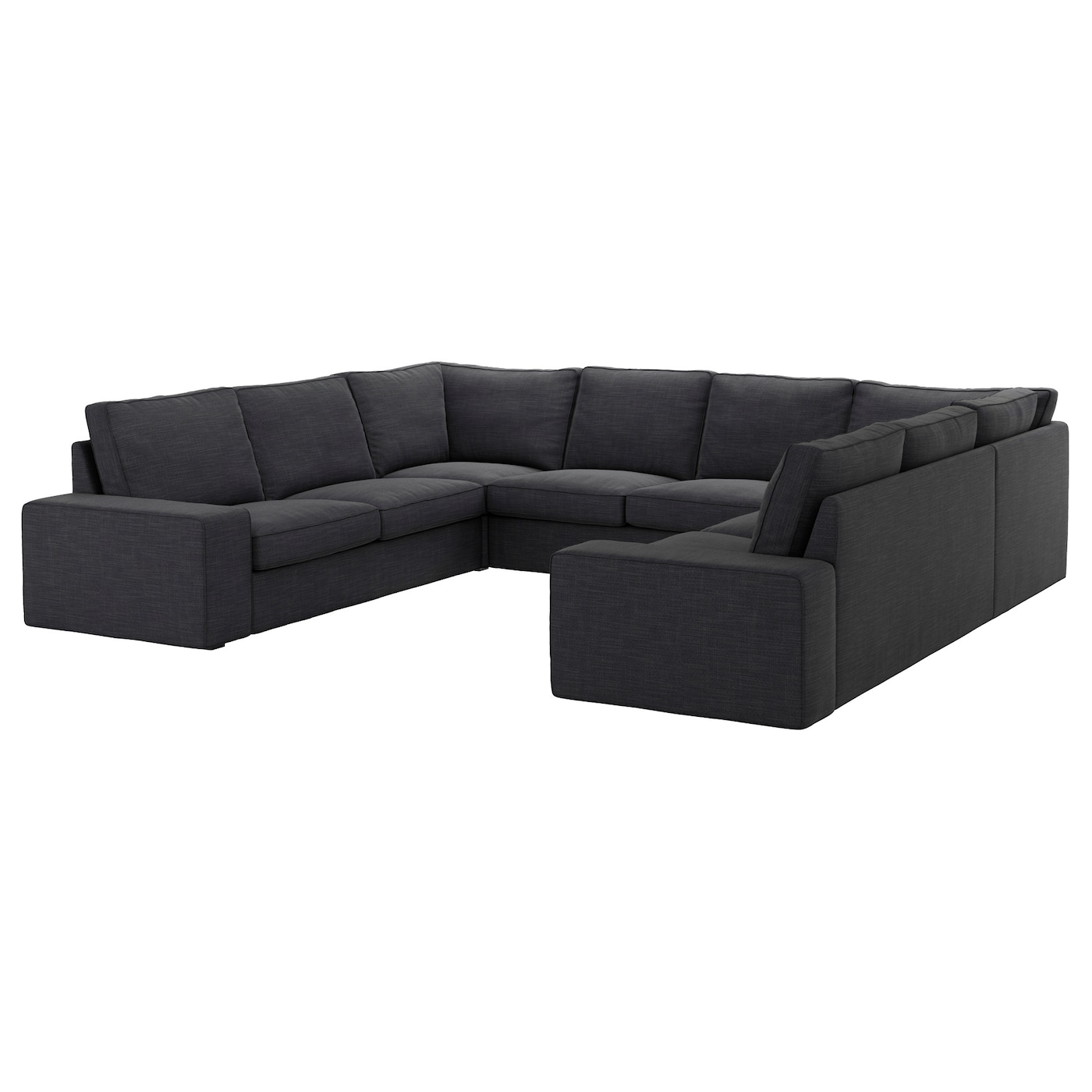 kivik sofa u shaped 8 seater hillared anthracite ikea. Black Bedroom Furniture Sets. Home Design Ideas