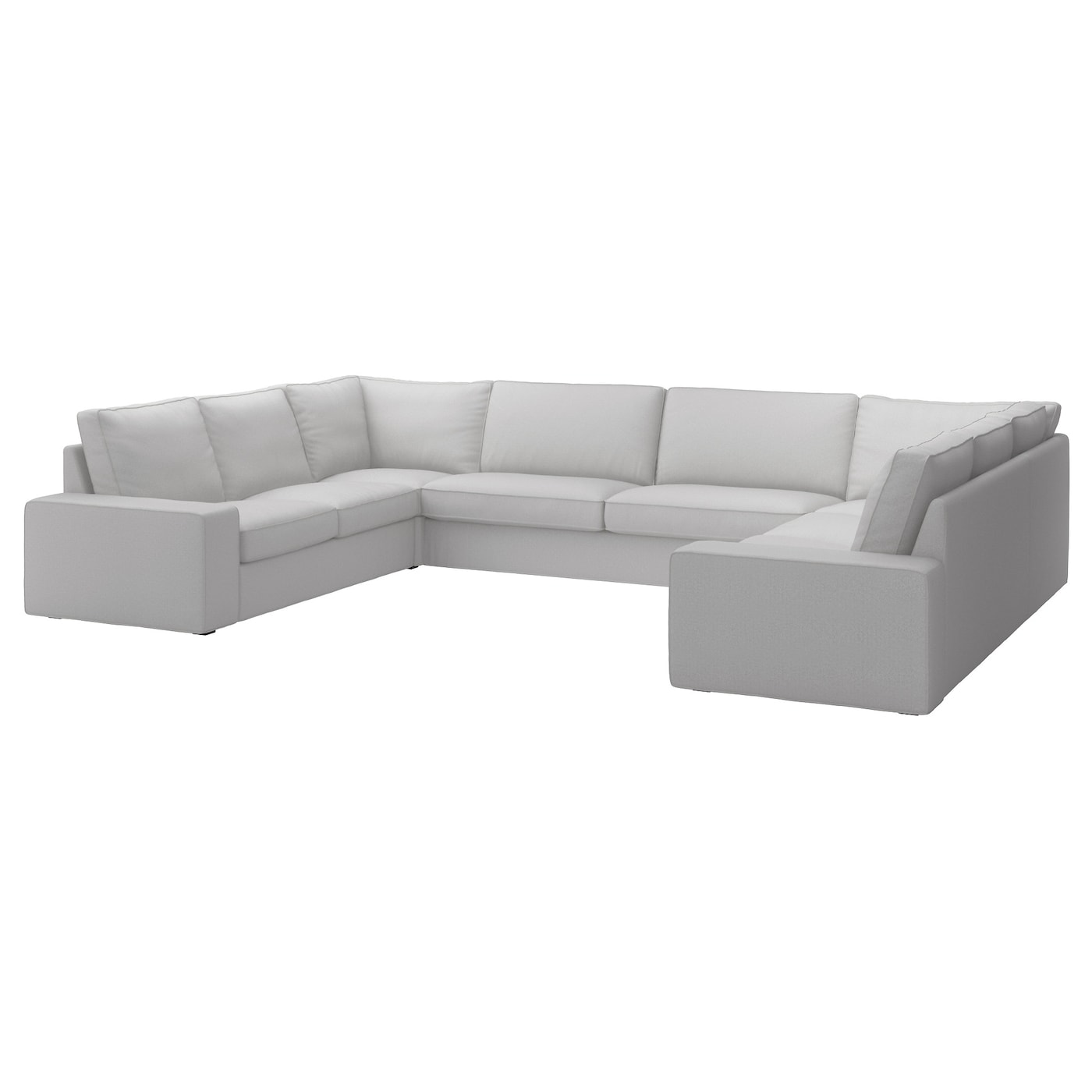 kivik sofa ushaped seaterramna light grey ikea