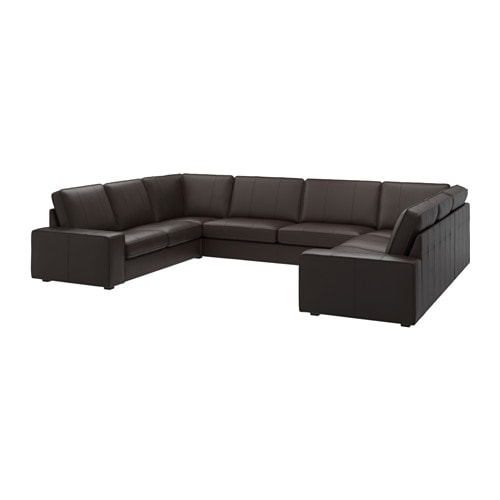 KIVIK Sofa U shaped 9 seaterGrannBomstad Dark Brown