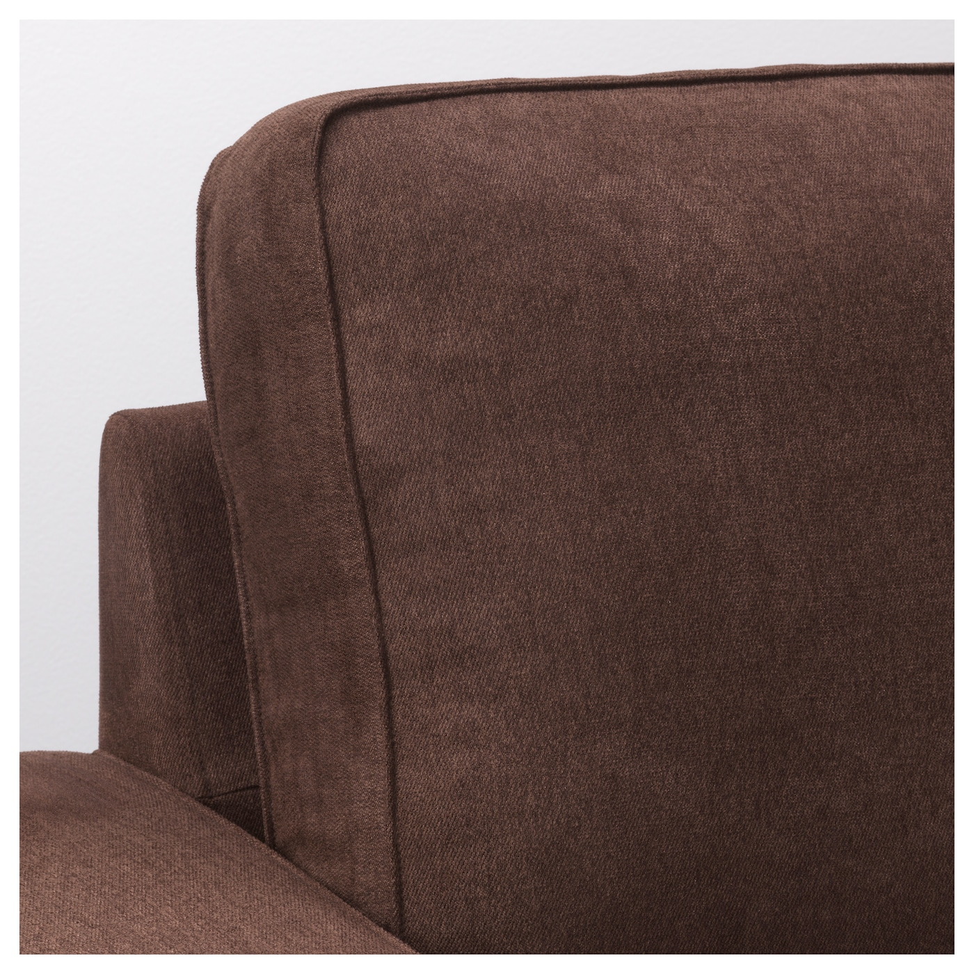 Kivik three seat sofa and chaise longue borred dark brown for Brown chaise longue