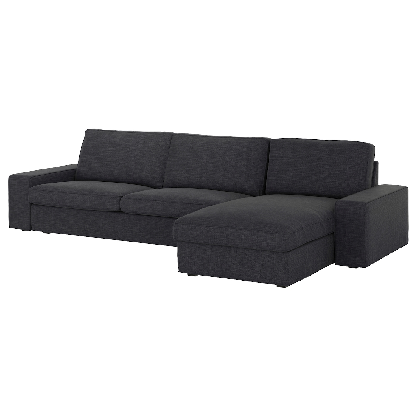 kivik three seat sofa and chaise longue hillared anthracite ikea. Black Bedroom Furniture Sets. Home Design Ideas