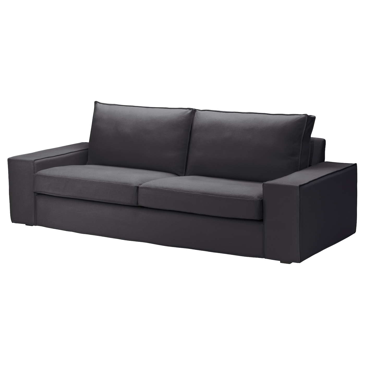 kivik three seat sofa dansbo dark grey ikea. Black Bedroom Furniture Sets. Home Design Ideas