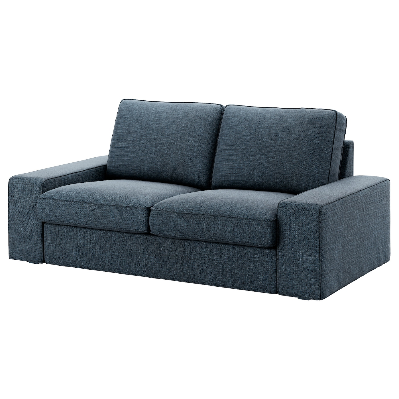 kivik two seat sofa hillared dark blue ikea. Black Bedroom Furniture Sets. Home Design Ideas