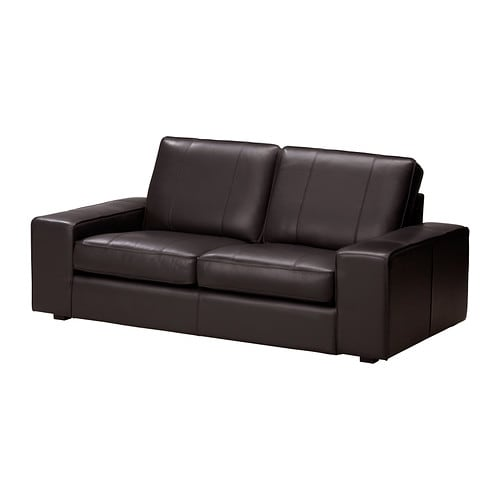 Kivik two seat sofa grann bomstad dark brown ikea for Canape 6 places ikea