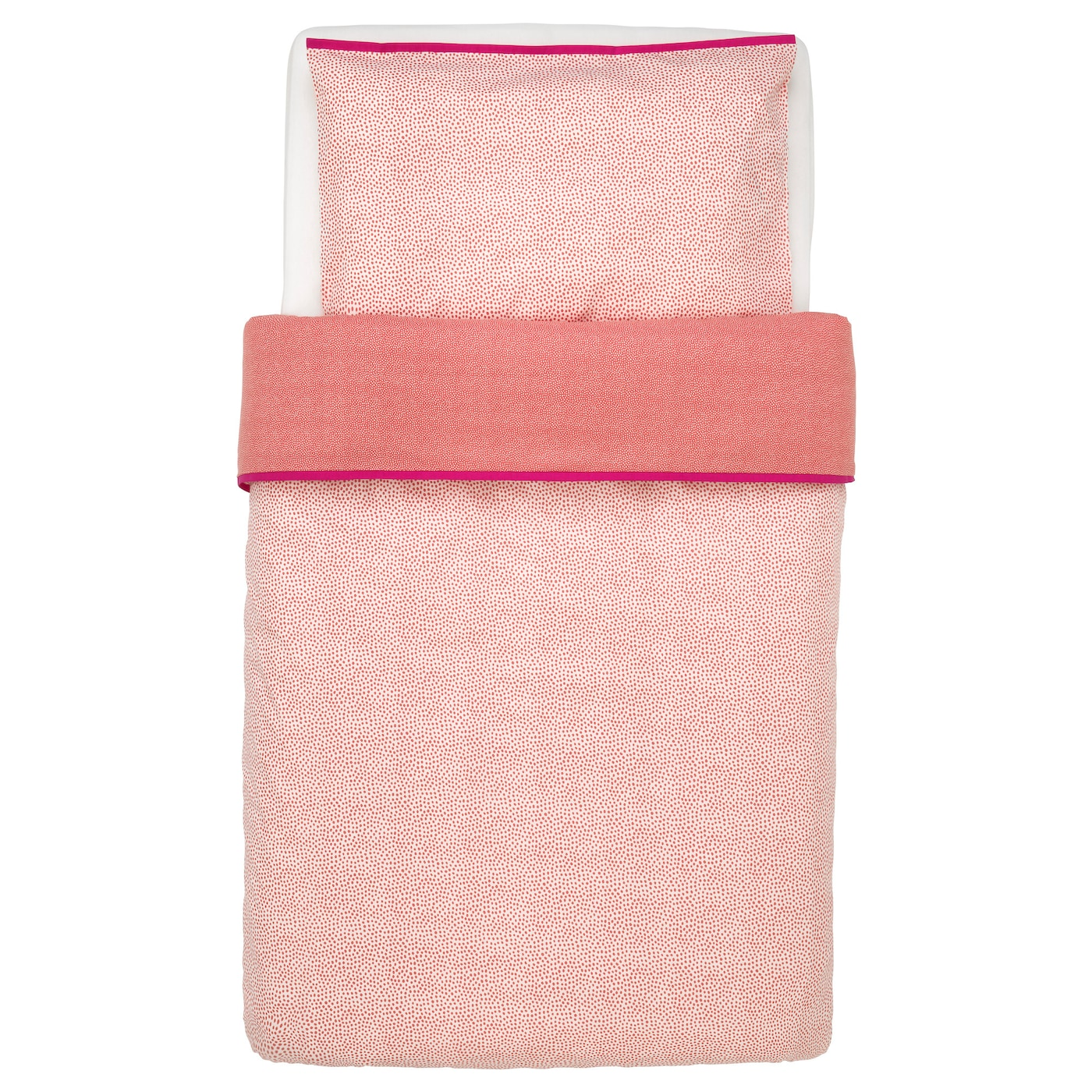 IKEA KLÄMMIG quilt cover/pillowcase for cot Easy to keep clean; machine wash hot (60°C).
