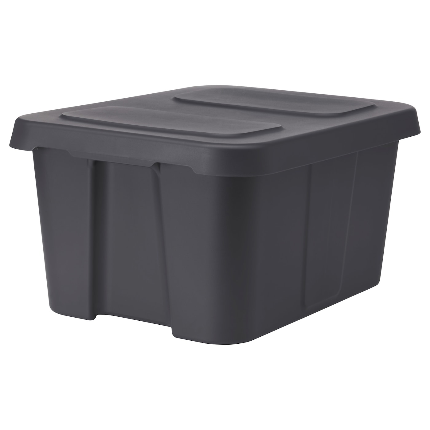 kl mtare box with lid in outdoor dark grey 58x45x30 cm ikea. Black Bedroom Furniture Sets. Home Design Ideas