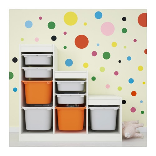 Awesome kltta decoration stickers dots ikea with ikea for Miroir autocollant ikea